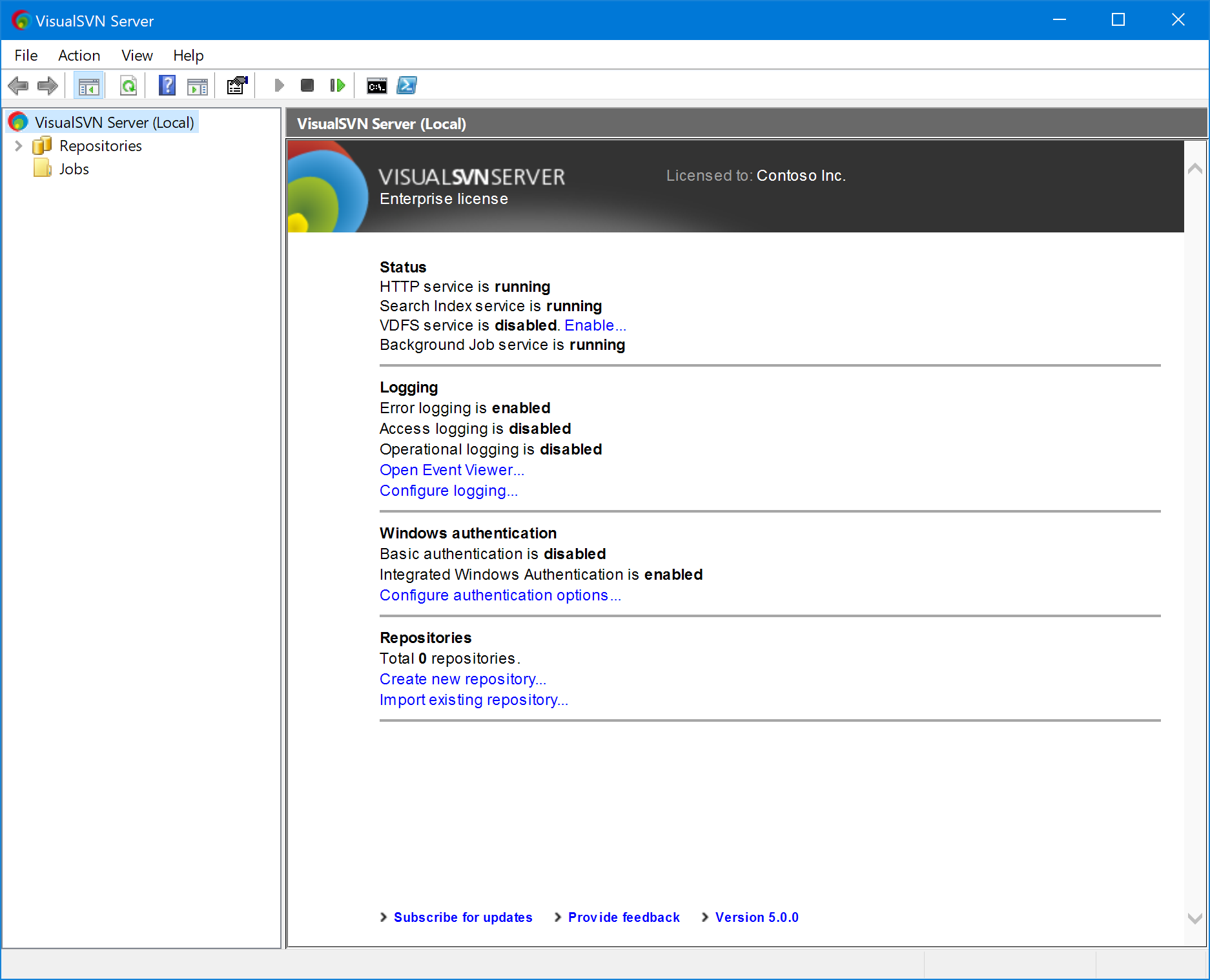 VisualSVN Server   Getting Started