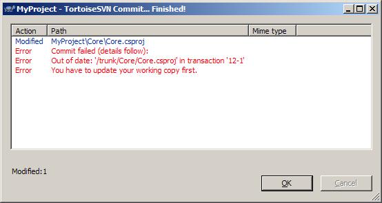TortoiseSVN's failed Commit window